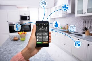 smart home app on mobile phone